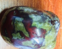 jasper  red veins in olive green Gemstone  Skull  PPP 1714