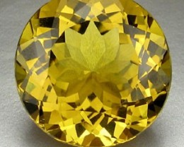 BEAUTIFUL ROUND CUT 14.60 CTS CITRINE 16MM DAZZLING $288.00