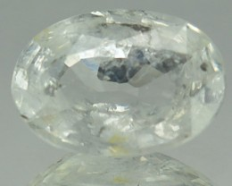1.43 Cts Natural White Sapphire Oval Africa