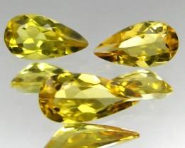 1.65 ct Natural Intense Beautiful Yellow Beryl Brazil Pear Shape