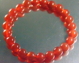 85.50 ct Natural Beautiful Red Carnelian Beats 8 mm Round