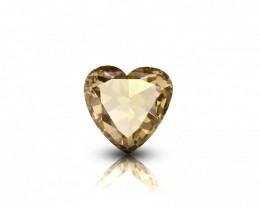 1.00 ct Natural Fancy Orangy Brown Color Pear shape Rose cut Diamond