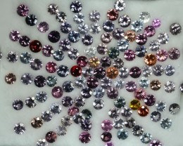 29 Cts Natural Fancy Burmese Spinel 3-4 mm Round Lot