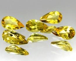 2.06 ct Natural Intense Beautiful Yellow Beryl Parcel Pear shape Brazil