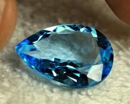 18.64 Carat VVS Brazil Blue Topaz - Superb