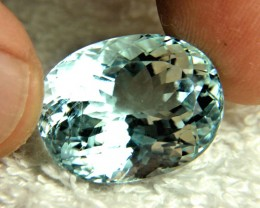 34.45 Carat Vibrant Blue Himalayan VS/SI Aquamarine - Superb