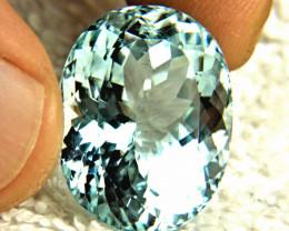 34.45 Carat Vibrant Blue Himalayan VS/SI Aquamarine - Superb