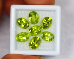 9.64ct Natural Green Peridot Oval Cut Lot GW200