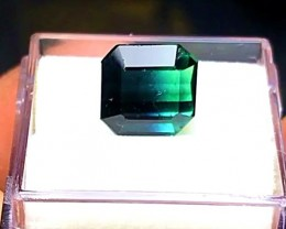 4.0 cts BICOLOR BLUE/GREEN TOURMALINE - BRAZILIAN WOW COLOR