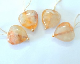 Sell 2pairs Cherry Blossom Agate Heart Earrings For Women(17120702)