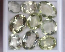 41.46Ct Natural Green Amethyst Oval Cut Lot V209