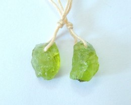 Women Jewelry ,Sell 8.5ct Natural Nugget Peridot Delicate Green Stone Earri