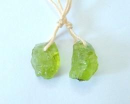 Women Jewelry ,Sell 8.5ct Natural Nugget Peridot Delicate Green Stone Earri