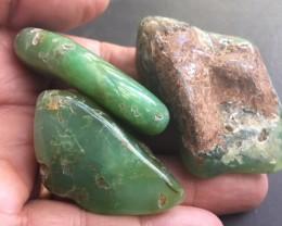 THREE  Australian jade ,Chrysoprase ppp 1772