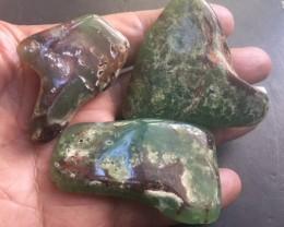 Parcel 3 Australian jade ,Chrysoprase ppp 1773