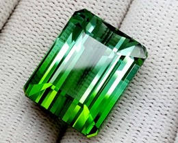36.30 Ct Bi Color Tourmaline Green Blue High end Gemstones IGCHE02