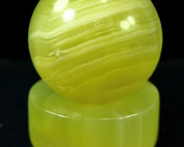 1310 CT Natural Onyx Carved Ball Stone Special Shape