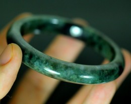 Green Jadeite Jade Bangle Bracelet 213.5ct. 65.5mm