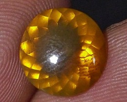 2.07 Ct (IGS CERTIFICATE) UNTREATED YELLOWISH CLEAR INDONESIAN FIRE OPAL