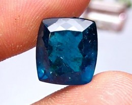 9.80 cts TEAL BLUE APATITE - BRAZILIAN - BEST COLOR EVER!!