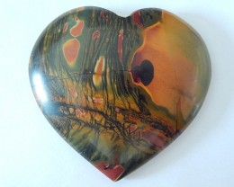 Sale Sweety Heart Shape Cabochon,Natural Muti Color Picasso Jasper Heart Ca
