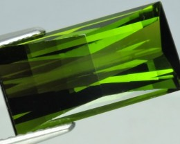 6.35 CTS EXTREMELY FINE FIRE NATURAL GREEN TOURMALINE $490.00