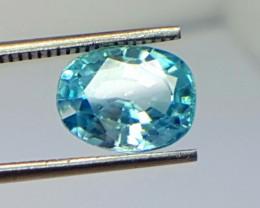 3.30 Crt Natural Blue Zircon Faceted Gemstone (R 111)