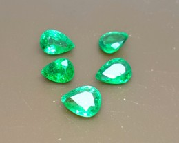 1.45 Crt Natural Tsavorite Parcel Faceted Gemstone (R 111)