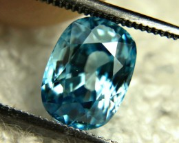 3.80 Carat VVS Southeast Asian Blue Zircon - Superb