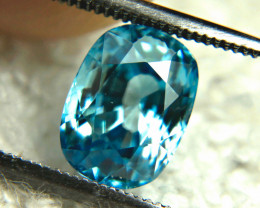 3.80 Carat VVS Southeast Asian Blue Zircon - Superb
