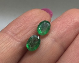 Brilliant 1.49tcw All Natural Colombian Emerald Pair