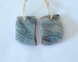 28.5CT Natural Brazil Agate Earrings For Women(17120901)