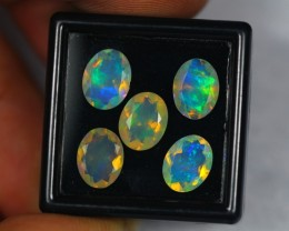 4.42Ct Natural Ethiopian Welo Faceted Opal Lot LZ54