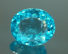 1.20 Ct Neon Blue Apatite ~ Insanity ~ Brazilian ~ Untreated Kj54