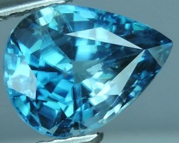CERTIFIED 2.63 CT DAZZLING NATURAL RARE TOP LUSTER INTENSE BLUE ZIRCON $422