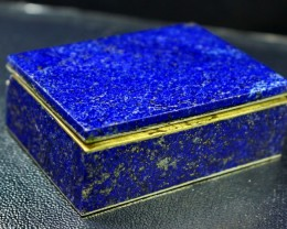 670 CT Natural lapis lazuli Carved Box Stone Special Shape
