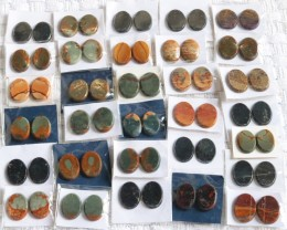 30 Pairs Manufactures Parcel Oval jasper Pairs    PPP 1831