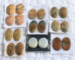 10 Pairs Manufactures Parcel Oval jasper Pairs    PPP 1832