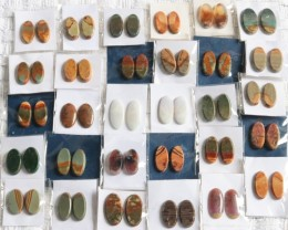 30 Pairs Manufactures Parcel Oval jasper Pairs    PPP 1836