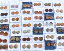 40 Pairs Manufactures Parcel Round jasper Pairs    PPP 1839