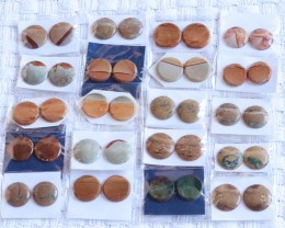 20 Pairs Manufactures Parcel Round jasper Pairs    PPP 1840