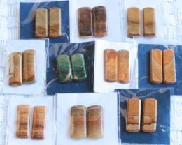 10 Pairs Manufactures Parcel Baguette jasper Pairs    PPP 1847
