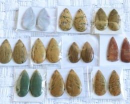10 Pairs Manufactures Parcel Pear jasper Pairs    PPP 1852