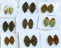 9 Pairs Manufactures Parcel Marquise jasper Pairs    PPP 1854