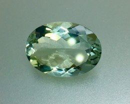 9.45 Crt Natural Green Amethyst Prasiolite Faceted Gemstone (R 113)