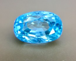 3.80 Crt Natural Blue Zircon Faceted Gemstone (R 113)