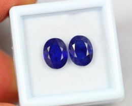 Lot 04 ~ 6.02Ct Natural VS Clarity Royal Blue Ceylon Sapphire Pair