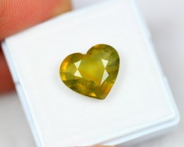 Lot 05 ~ 6.80Ct Natural VS Clarity Greenish Yellow Color Sapphire