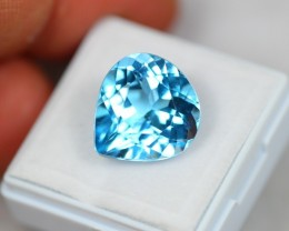 Lot 13 ~ 13.00Ct Natural VS Clarity Swiss Blue Color Topaz