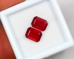 Lot 20 ~ 4.46Ct Natural VS Clarity Blood Red Color Ruby